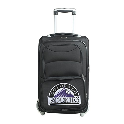 picture of MLB Colorado Rockies In-Line Skate Wheel Carry-On Luggage, 21-Inch, Black