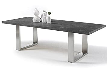 Esstisch Stone Beton Optik 220x100cm Grau Holz Metall 220 X 100