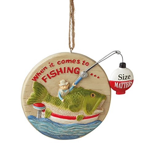Midwest-CBK When It Comes To Fishing Size Matters Man Cave Ornament
