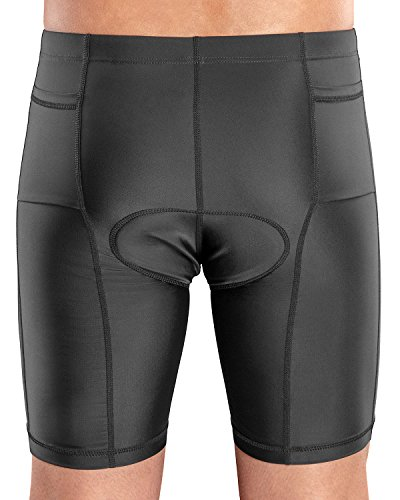 SLS3 Triathlon Men`s Tri Shorts | 2 Pockets | Black | FRT 2.0 | Swim-Bike-Run | German Designed (Black, Large (W 33''-36'')) by SLS3 (Image #2)