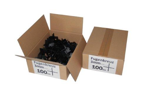 Fugenkreuze 3mm, Bauhöhe 20mm, 100 Stück im Karton