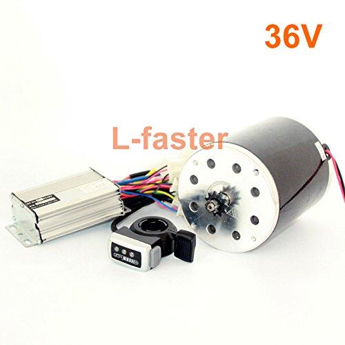 36v48v 800ワット電動ブラシdcモーターキット電動スクーターe300変換キット電動オートバイmx650交換エンジン更新 [並行輸入品] B078L6H6KM 36V thumb kit 36V thumb kit