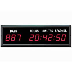 EU 1.8'' LED Countdown Clock Days Hours Minutes and Seconds (Red)