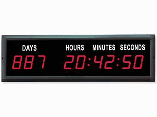 EU 1.8'' LED Countdown Clock Days Hours Minutes and Seconds (Red) ()