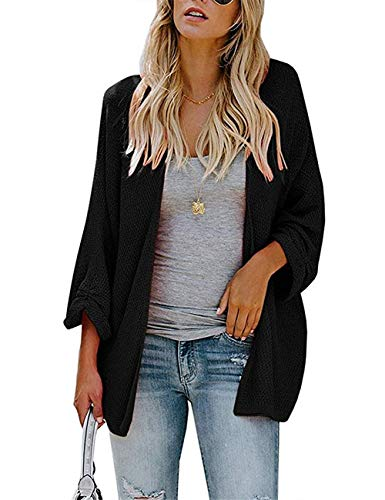 PARIS HILL Softome Womens Long Sleeve Cardigans Oversized Open Front Basic Casual Knit Sweaters Coat