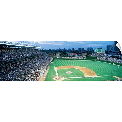 Wrigley Field Diamond - CANVAS ON DEMAND Wall Peel Wall Art Print Entitled Spectators in a Stadium, Wrigley Field, Chicago Cubs, Chicago, Illinois 48