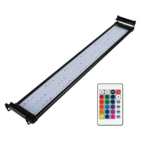 NICREW RGB LED Aquarium Light, Dimmable Fish Tank Light with Remote, 28 to 36-Inch, 18 - Color Changing Light Aquarium