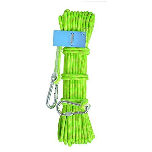 フロントグレー保存ロッククライミングロープ10-100メートル、屋外ハイキングアクセサリー高強度コード安全脱出クライミング装備強力な多機能ロープロングストラップ (色 : 青, サイズ : 8 mm wide 20m long)