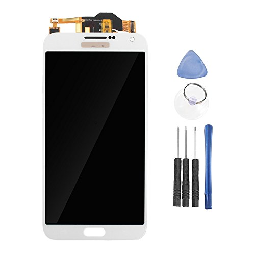 Gimax - Full Assembly LCD Display+Touch Screen Digitizer Replacement Repair Tools Samsung Galaxy E7 E7000 - (Color: White)