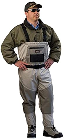 Caddis Men's Attractive 2-Tone Tauped Deluxe Breathable Stocking Foot Wader, X-Large(DOES NOT INCLUDE BOOTS)