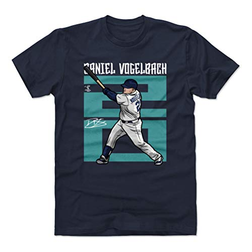 500 LEVEL Daniel Vogelbach Cotton Shirt (XX-Large, True Navy) - Seattle Baseball Men's Apparel - Daniel Vogelbach Number T ()