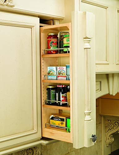 OKSLO Base & wall cabinet fillers and organizers, 6w x 11-1/8d x 30h, zinc/100 lb, - Cabinet 30h