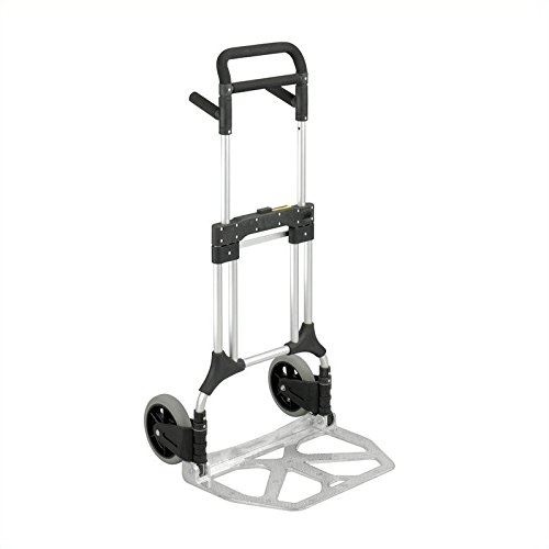 Safco Products Hideaway - Safco Products Stow Away Heavy-Duty Hand Truck 4055NC, Collapsible, 500 lbs. Capacity, Telescoping Handle
