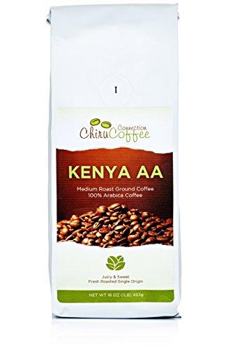 Chiru Coffee Connection Fresh Roasted Kenya's Finest AA Ground Coffee 100% Arabica 16 OZ (1LB)