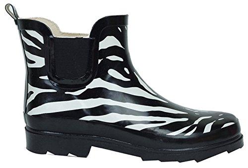 Bs Stivali Da Pioggia Donna Breve Caviglia In Gomma Da Giardino Moda Neve Scarpe Più Stili Di Colore Zebra