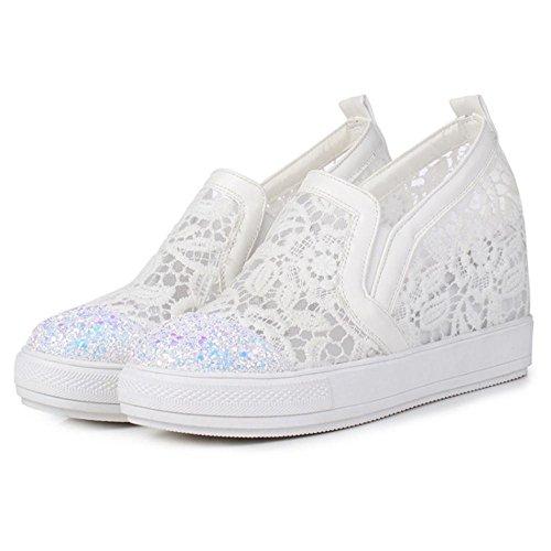 COOLCEPT Damen Mode Plateau Pumps White