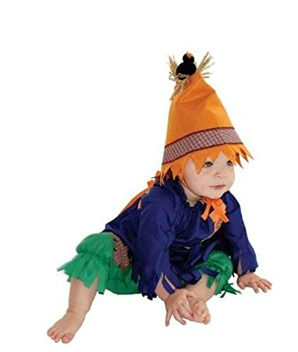 Twin Halloween Costume Ideas For Girls (Mullins Square Scarecrow , Blue/Green - 6-18 Months)