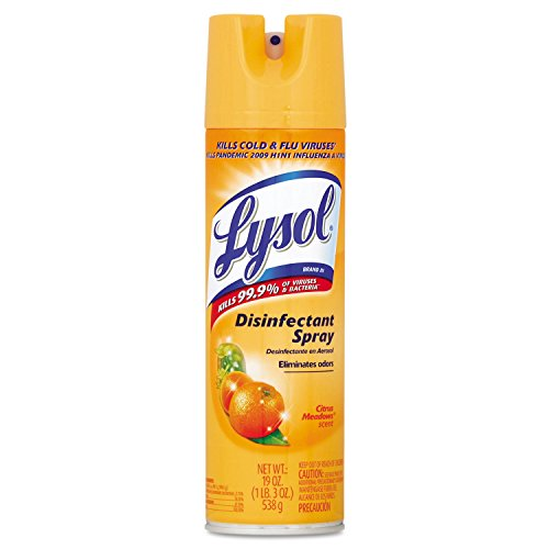 LYSOL Brand 81546CT Disinfectant Spray, Citrus Meadows, 19oz Aerosol (Case of (Reckitt Germicidal Cleaner)