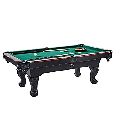 Lancaster 90 Inch Traditional Full Pool Table Set w/ Accessories