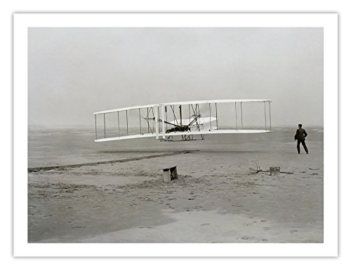 (Wright Flyer First Flight 1903 Historic 18x24 Photo Poster )