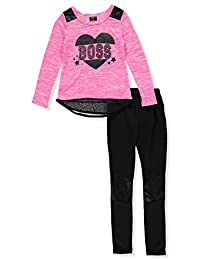 Diva Girls' 2-Piece Leggings Set Outfit