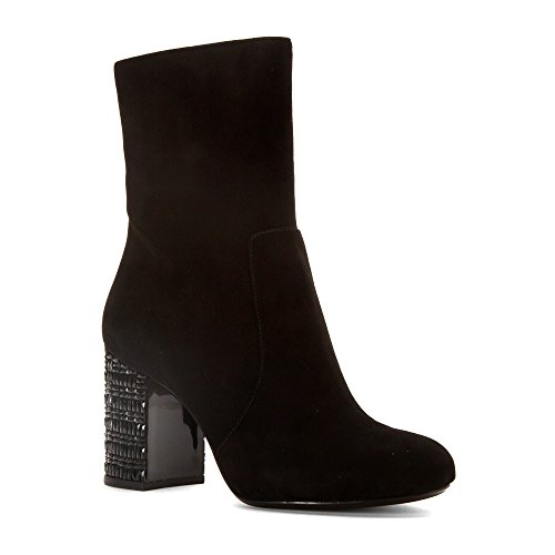 MICHAEL Michael Kors Women's Yoonie Ankle Boot Black Kid Suede 8 - Kids Mk For Boots