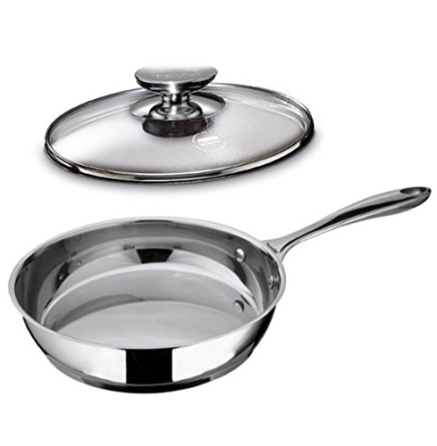 Berndes Saute Pan Cucinare Induction Capable with Glass Cover Stainless Steel, 11