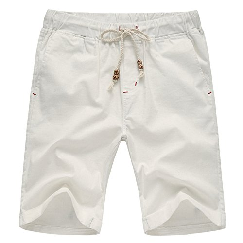 Manwan Walk Men's Linen Casual Classic Fit short B311 (XX-Large, - Casual Cotton Short