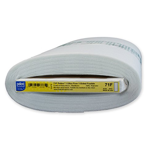 Sided Fusible Batting - Pellon 71F Pelte x Ultra-Firm 1-Sided Fusible Stabilizer (20-inch x 10yd)