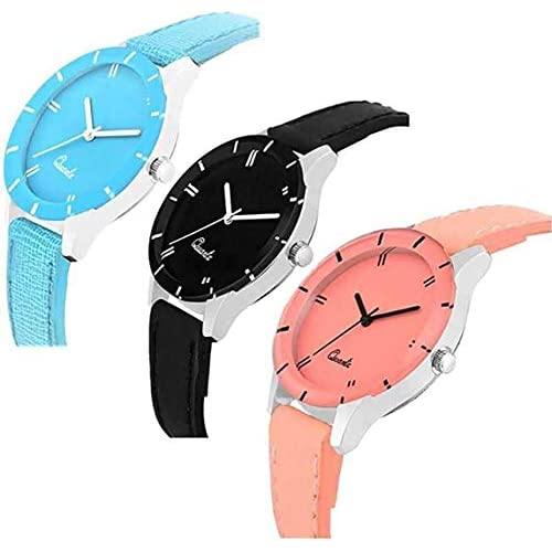 41EAVOBjVFL. SS500  - Acnos Special Super Quality Analog Watches Combo Look Like Preety for Girls and Womne Pack of - 3(605-BLK-ORG-SKY)