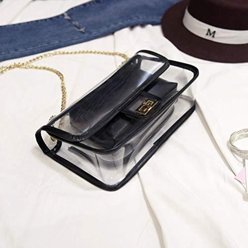 Verrouillage Carré Sac Rétro noir Simple À Bag Messenger Bandoulière awEXXxdrq