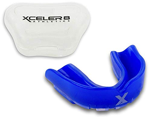 XCELER8 Athletics Youth Mouth Guard for Sports – Custom Match Comes with Vented Case – DiZiSports Store