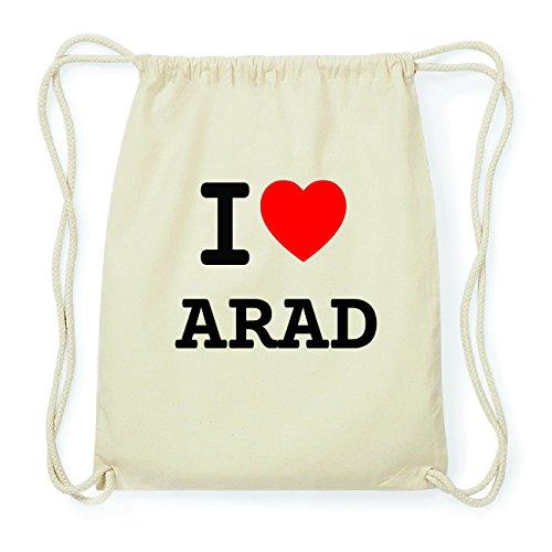 JOllify ARAD Hipster Turnbeutel Tasche Rucksack aus Baumwolle - Farbe: natur Design: I love- Ich liebe Rp3lDJv