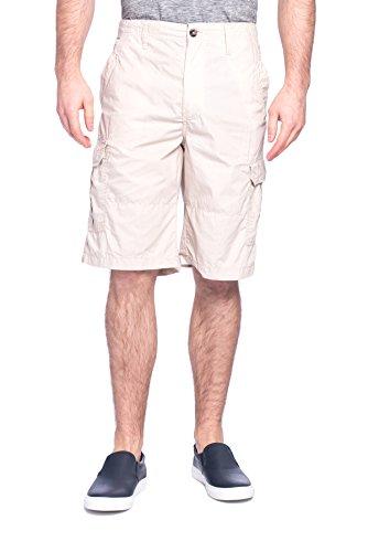 Microfiber Cargo Shorts Stone - 5