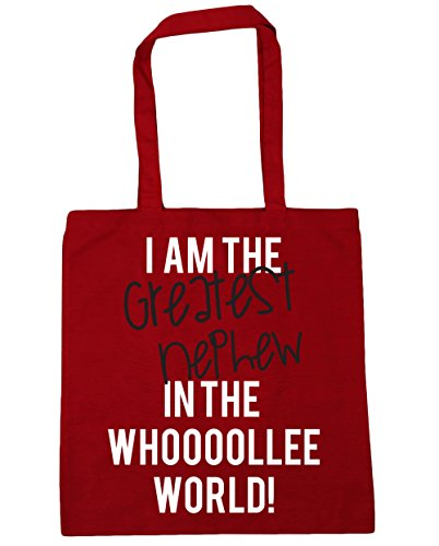 HippoWarehouse I AM THE GREATEST sobrino en el mundo whooooollee. Bolsa de la compra bolsa de playa 42cm x38cm, 10litros Classic Red