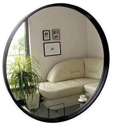 Rund Spiegel Wandspiegel 50cm Durchmesser Holz Schwarz