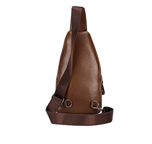 De Moda Bolsa Clear Casual De Los Cuero Bolso Hombres Cinturón De De Hombro wSc5qEAx7