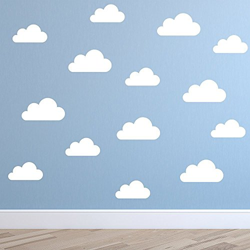 Set of Clouds Wall Decal - Nursery Wall Decal - Childs Room Wall ...