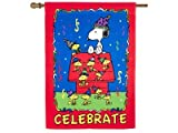 CELEBRATE House Flag Peanuts Snoopy Charlie Brown 28″ x 40″NEW 80110 Review