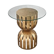 Lazy Susan Gold Leaf Olympia Side Table