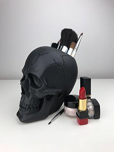 [MakeUp Brush Holder - MakeUp Organizer - MakeUp Storage - Brush Holder - Gift for Her - Tribal Skull - Skull Makeup Holder - Makeup Organizer - Organizer - Storage - Skull Head - Human Skull] (Replica Makeup)