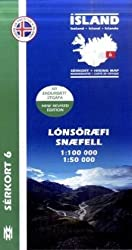 Island Serkort 06 Lonsöraefi, Snaefell  1 : 100 000 / 1 : 50 000