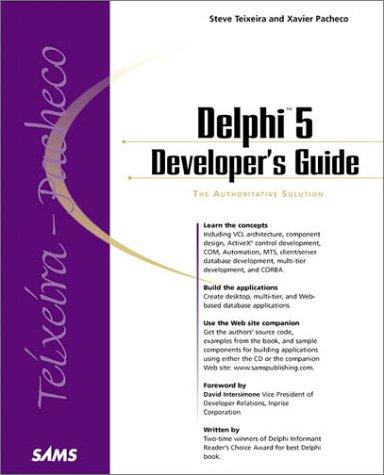 Delphi 5 Developer's Guide (Developer's Guide) by Sams