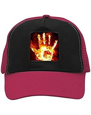 Unisex Fire Hand Adjustable Classic Hiphop Hat Baseball Cap Snapback Dad Hat