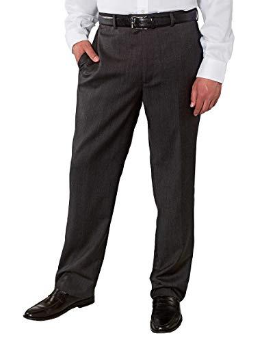 Kirkland Signature Men's Wool Flat Front Dress Pant (Charcoal, 32W x 34L)