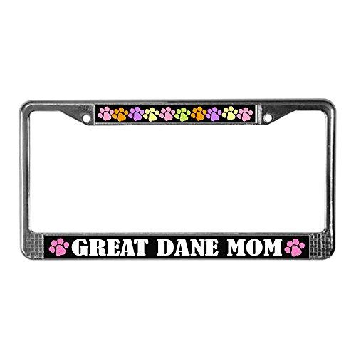 - CafePress - Great Dane Mom License Plate Frame Gift - Chrome License Plate Frame, License Tag Holder