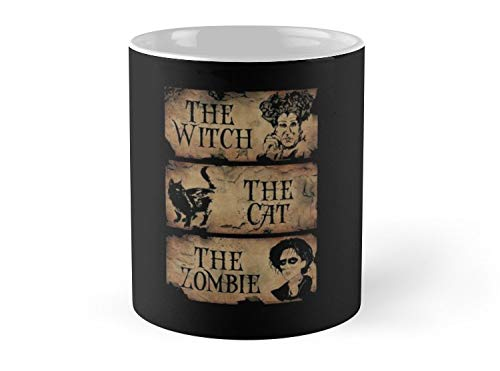 Army Mug The Witch,The Cat,The Zombie - 11oz Mug - Features wraparound prints - Dishwasher safe - Made from Ceramic - Best gift for family friends ()