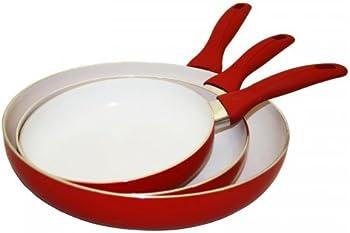 3-Pc Ceramic Nonstick Fry Pan Set