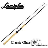 Lamiglas CG90DR Classic Glass - Caña de pescar de salmón y cabeza de acero