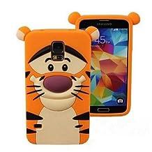 LliVEER 3D Cute Cartoon Silicone Monster Tiger Catt Ruerbber Back Case Cover For Samsung Galaxy S5 i9600 Tigger